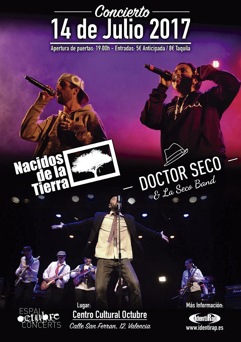 Concierto de Nacidos de la Tierra y Dr Seco en Valencia el 14 de Julio